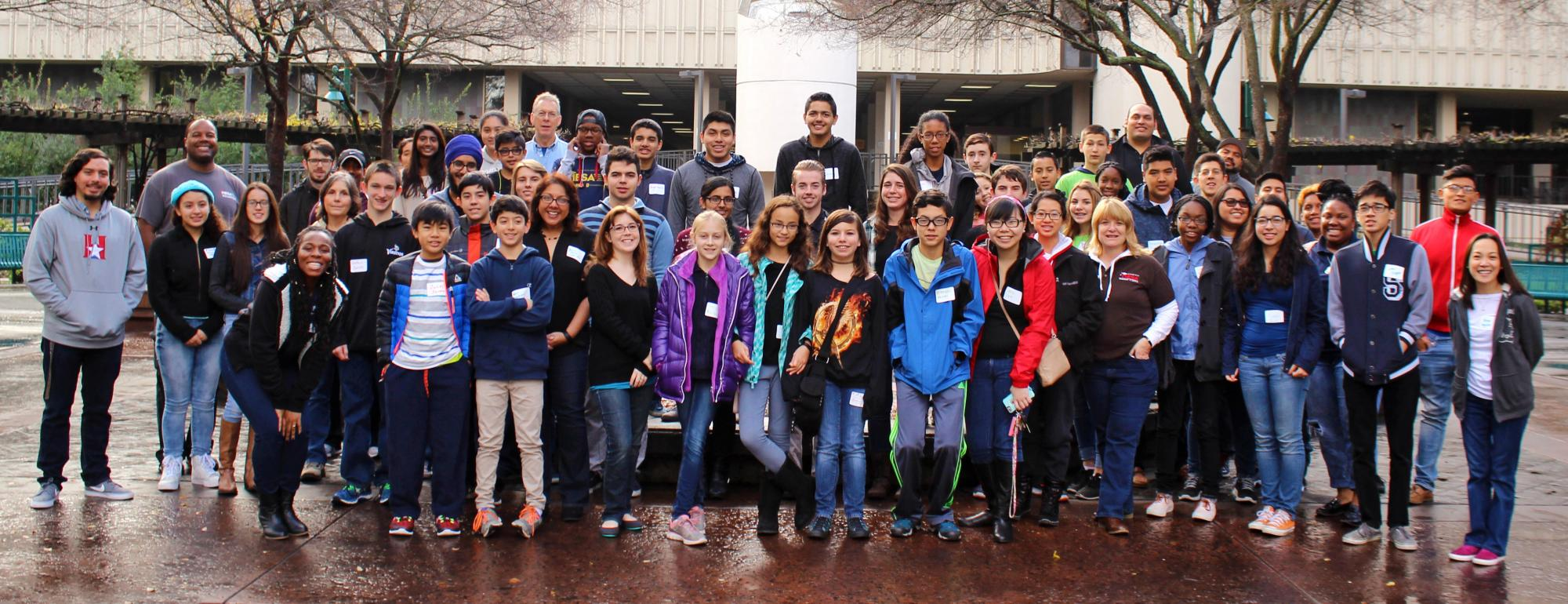 group shot of students from the MESA schools program